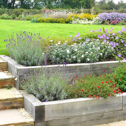 Contemporary country garden design project in for Terrace landscape design